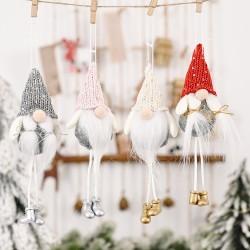 可愛針織帽聖誕老人吊飾 可愛造型聖誕樹吊飾 創意老人造型掛飾