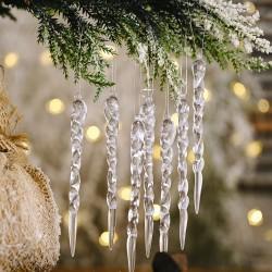 創意透明冰條裝飾 仿真冰條吊飾 聖誕樹必備創意螺紋冰條裝飾