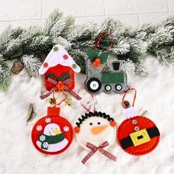 無紡布聖誕造型吊飾 創意聖誕節必備小掛飾 聖誕樹必備裝飾飾品