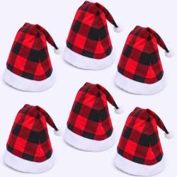百搭格子聖誕帽 格紋聖誕裝飾帽 聖誕節帽子