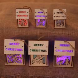 彩色燈光木屋吊飾 聖誕樹裝飾品 聖誕擺飾 聖誕禮物