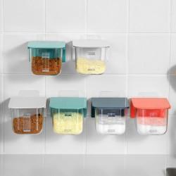 北歐風壁掛式調味盒 廚房必備黏貼式調味盒 多功能調味料收納盒