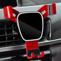 汽車出風口鏡面手機支架 夾式重力感應支架 導航手機支架