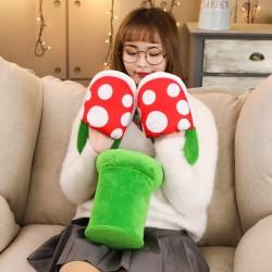 創意食人花拖鞋 蘑菇造型室內拖鞋 保暖居家可愛拖鞋 交換禮物