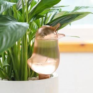 創意小鳥造型自動澆水器 可愛透明懶人澆花器 創意自動滴水器