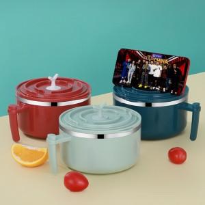 304不鏽鋼泡麵碗 多功能防燙便當盒 創意宿舍必備密封保鮮碗