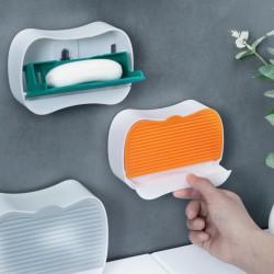 壁掛式瀝水肥皂盒 防水防塵翻蓋式香皂盒 學生宿舍必備香皂架