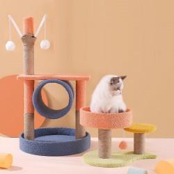 創意多色貓跳台 多款造型實木貓咪跳台 寵物窩 貓咪娛樂跳台