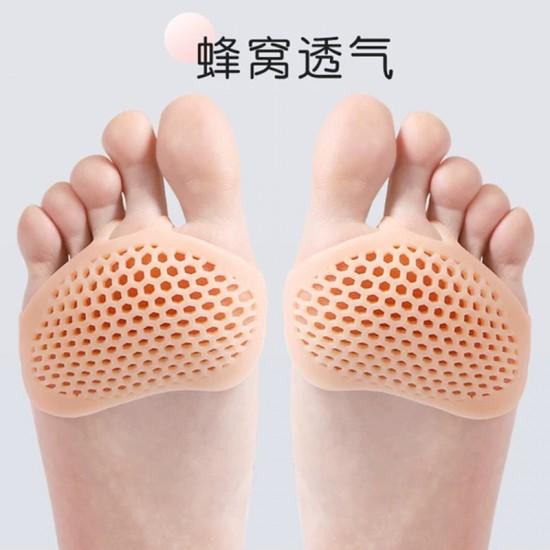 矽膠透氣防滑前腳掌墊 高跟鞋防磨腳神器 超軟蜂窩前掌墊 一對入