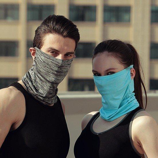 防曬冰絲涼感面罩 機車族必備透氣掛耳式面罩 夏季必備速乾頭套