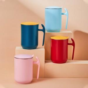 304不鏽鋼馬克杯 辦公必備咖啡杯 雙層隔熱防燙保溫杯 創意磨砂防滑水杯