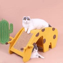 可愛長頸鹿造型雙層貓跳台 貓抓板 貓咪的窩 半封閉式貓窩