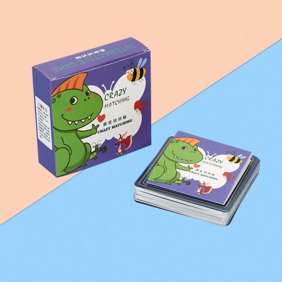 對對碰益智卡片 動腦訓練眼力反應卡 動物水果字母對對碰卡片 玩具 桌遊