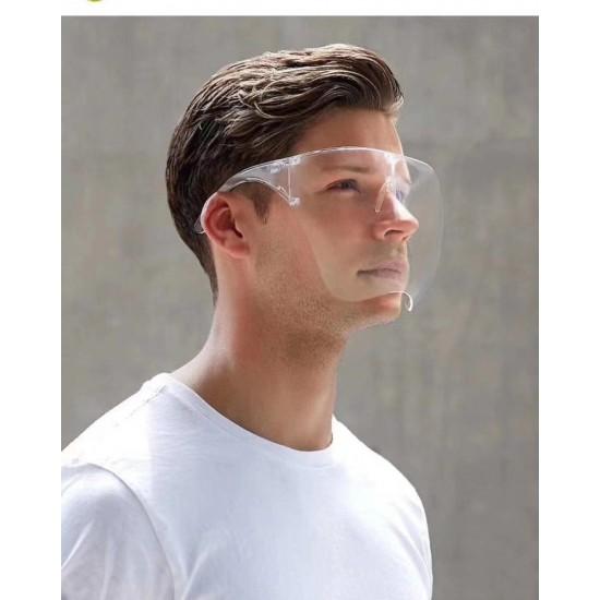 全罩式防飛沫護目鏡 防護隔離面罩 防霧太空鏡