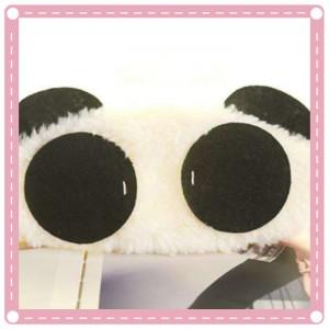 可愛熊貓眼罩 珍珠絨熊貓眼罩