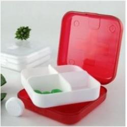 小藥盒 十字四格密封塑膠小藥盒