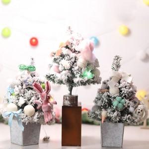 精美小兔植絨聖誕樹 可愛小羊裝飾聖誕樹 聖誕節佈置 交換禮物
