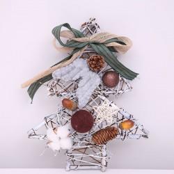 古典藤編聖誕樹掛飾 精緻小聖誕樹吊飾 聖誕節佈置【團購買越多越便宜】