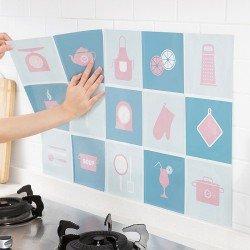 廚房防油污貼紙 自黏耐高溫 家用瓦斯爐瓷磚貼