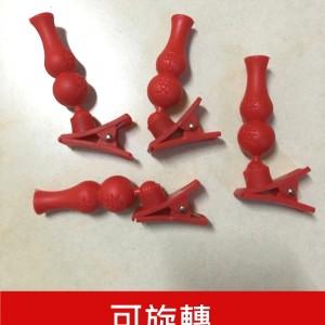 (24H出貨)拜拜專用紅色葫蘆造型插香器 中元普渡必備夾式插香器(5入)