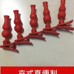 拜拜專用紅色葫蘆造型插香器 中元普渡必備夾式插香器(5入)