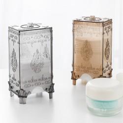 【團購買越多越便宜】創意歐式化妝棉收納盒 時尚透明桌面化妝棉盒