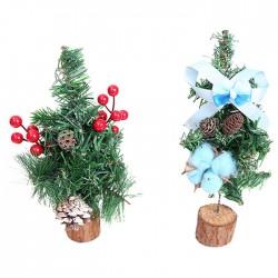 唯美迷你聖誕樹 桌面裝飾小聖誕樹 聖誕節佈置 辦公室小物【團購買越多越便宜】