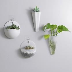 造型壁掛式花盆 塑膠牆面裝飾花瓶 綠美化小清新花盆 創意多款造型花盆
