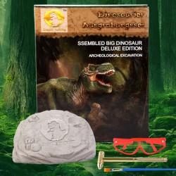 恐龍化石考古玩具 手工DIY益智考古恐龍化石拼裝玩具 考古學家