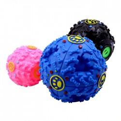 彩色寵物玩具漏食球 寵物磨牙益智餵食玩具 發聲寵物玩具